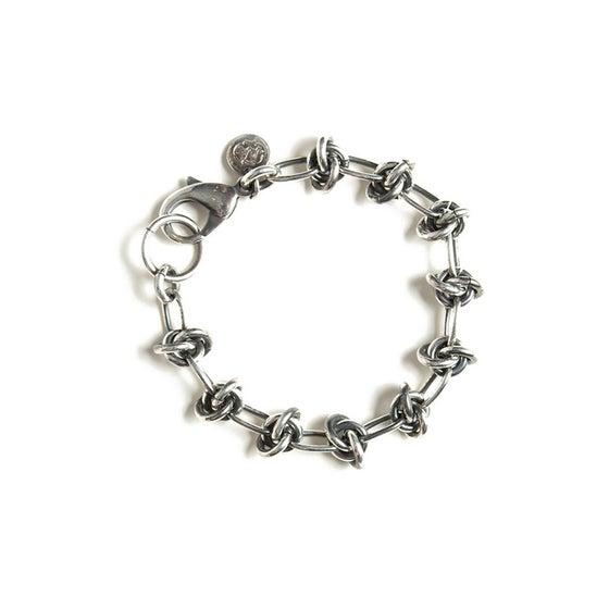 Image of Bracelet NAZAR plaquée argent vieilli