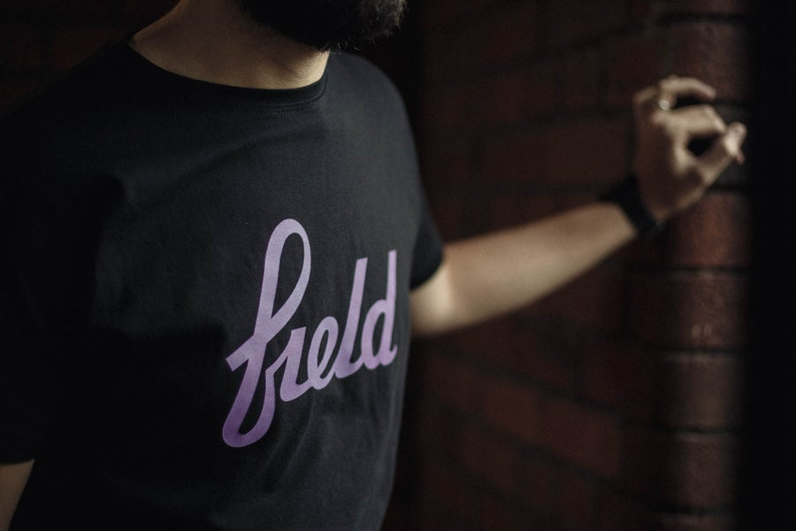 Image of Black and lavender tee