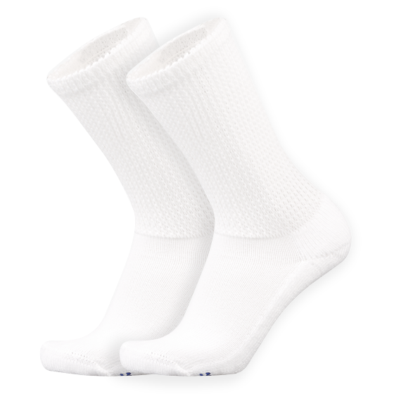 Extra Cushion Crew Socks with COOLMAX® Fiber, 2 Pair - MediPeds