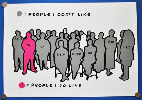 Image of People i like Print (Pink/Grey)