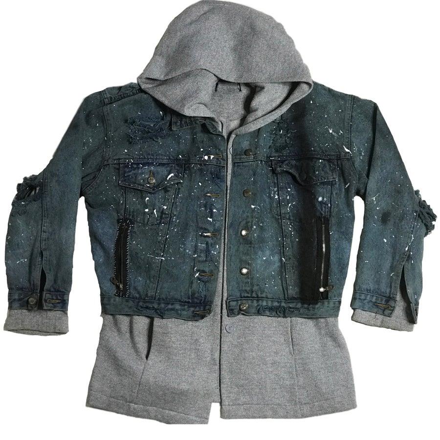 Image of DESTRUCTED DENIM FUSION JACKET