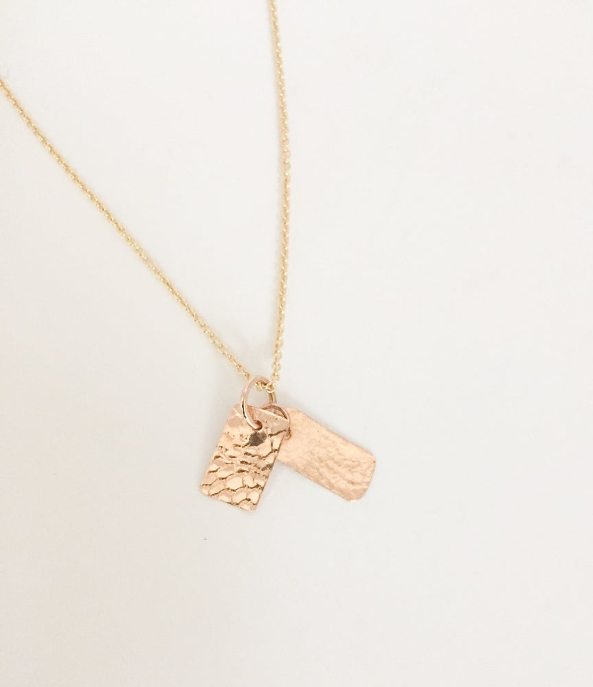 Image of Gold lace necklace