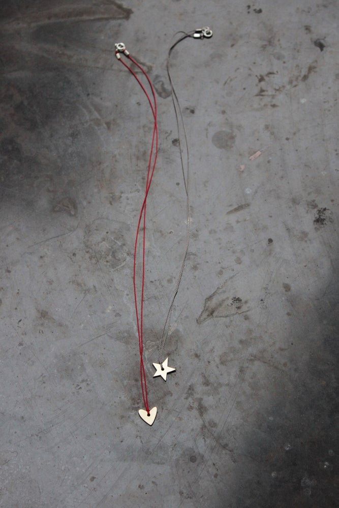 Image of TINY STAR + HEART NECKLACES