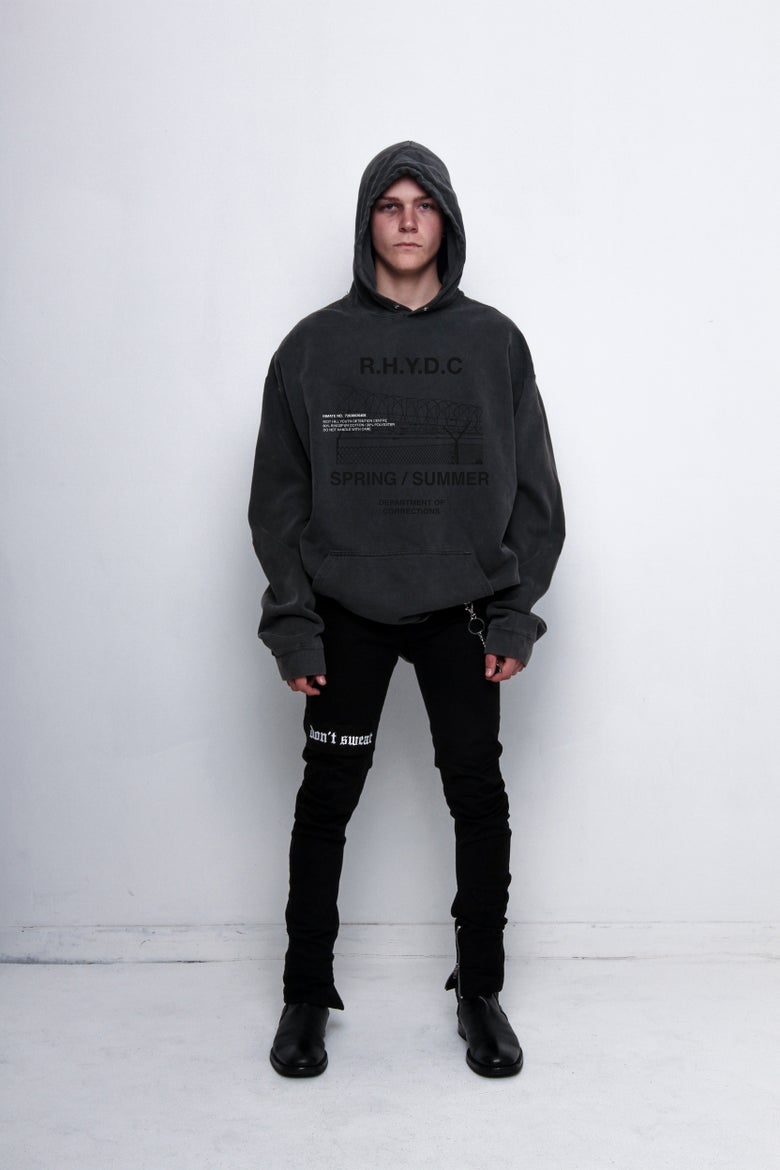 "Image of Washed ""SPRING / SUMMER"" Hooded Sweatshirt"