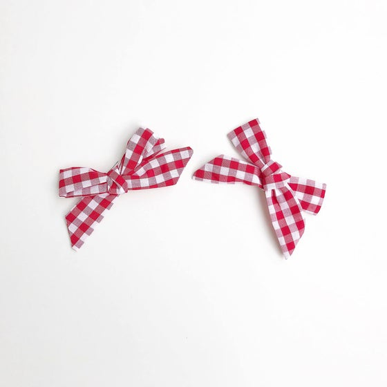 Image of Red Gingham Clips