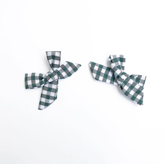 Image of Green Gingham Clips
