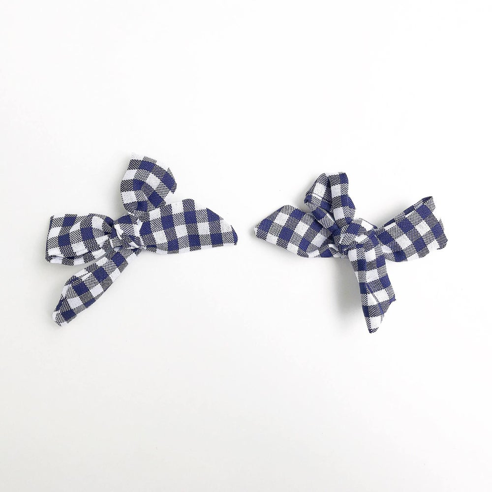 Image of Navy Gingham Clips