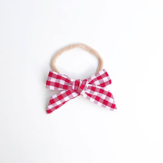 Image of Red Gingham Headband