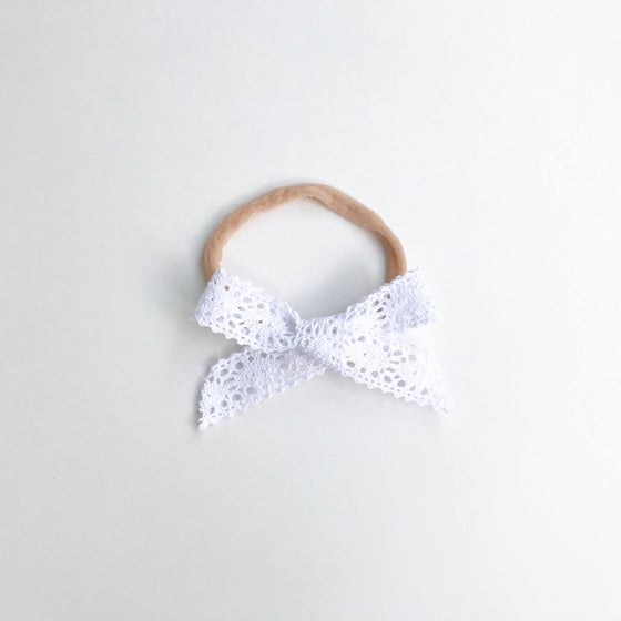 Image of White Vintage Lace Headband