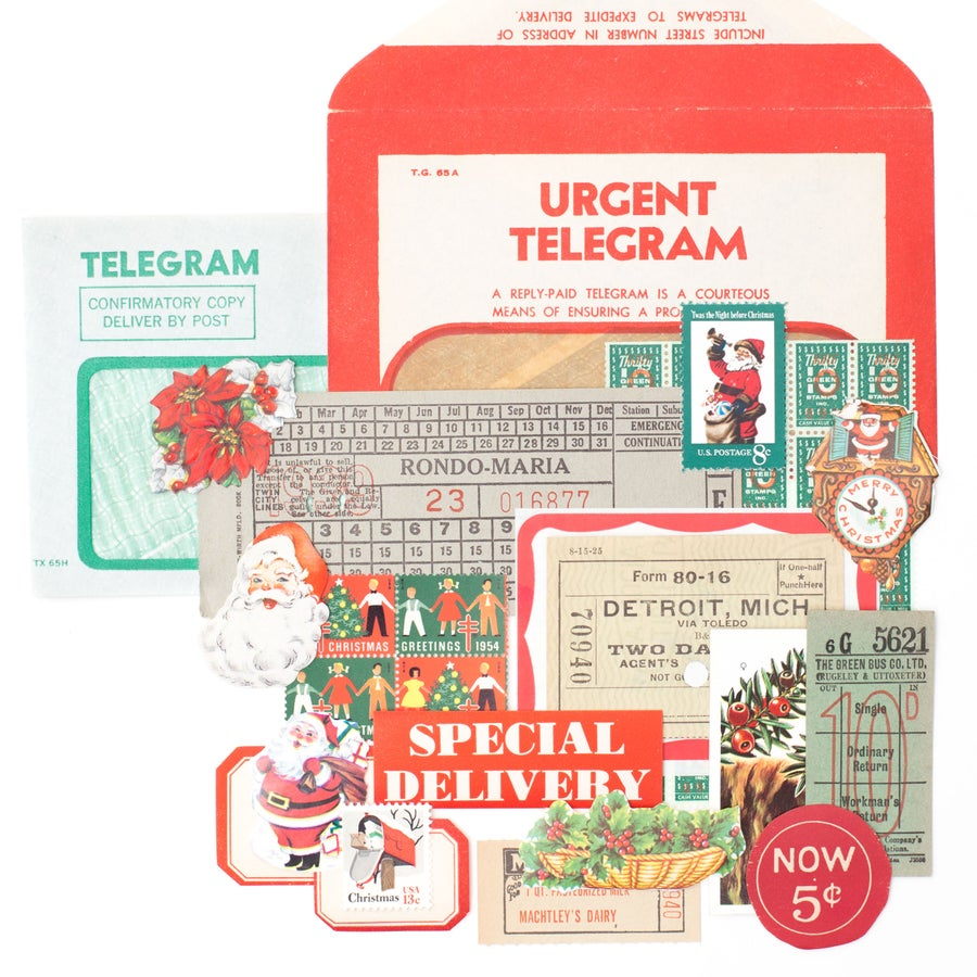 Image of Telegram with Christmas Ephemera