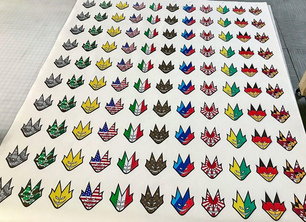 "Image of LOKI FLAG STICKERS 4.5"""