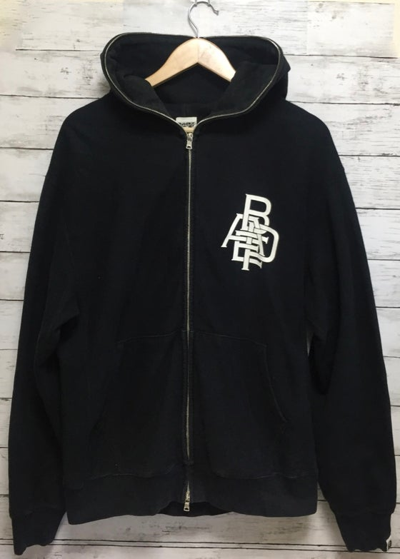 "Image of Bape ""Busy Works"" typography full zip hoodie"