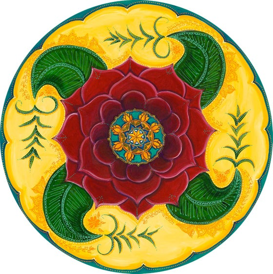 "Image of ""Grounded and confident""- Mehndi Rose Meditation Mat"