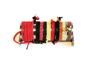 Image of Cotton Braided Wire - Red - 12 gauge