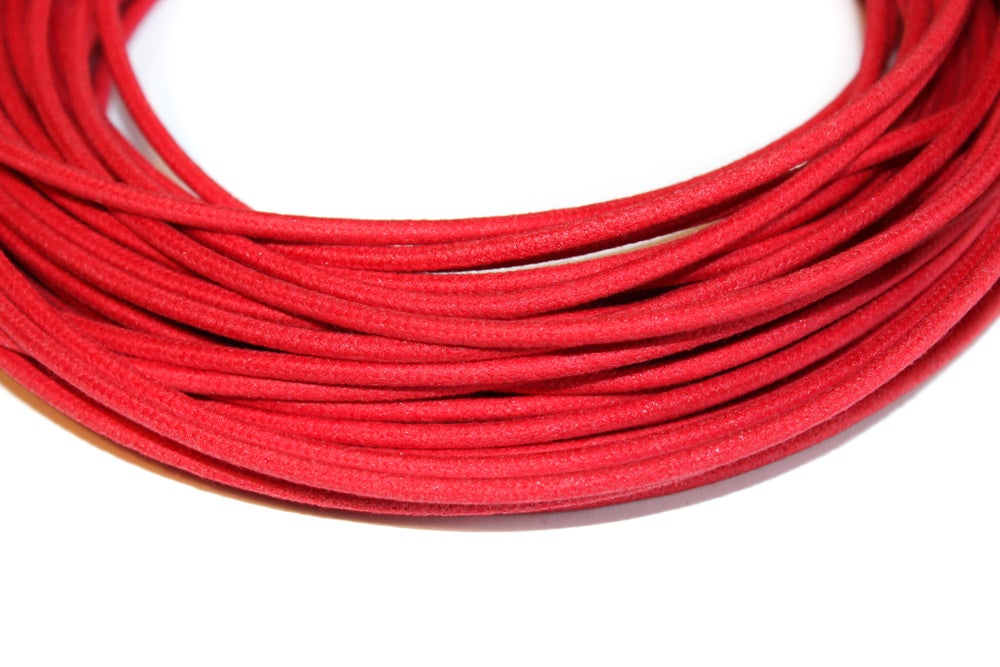 Image of Cotton Braided Wire - Red - 16 gauge