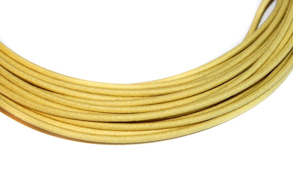 Image of Cotton Braided Wire - Yellow- 16 gauge