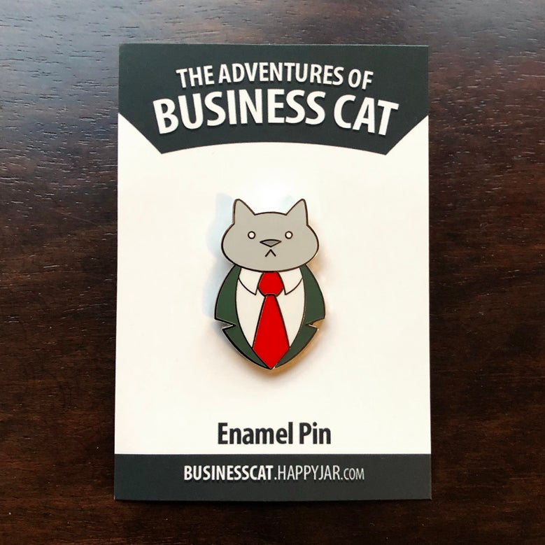 Image of Business Cat Pin
