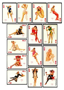 Image of PINUP CARDS - HEARTS