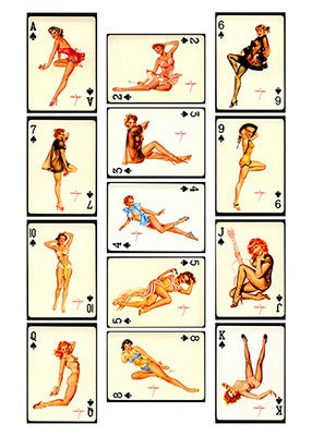 Image of PINUP CARDS - SPADES