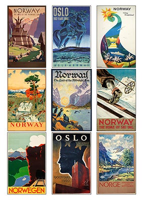 Image of TRAVEL POSTERS - NORWAY