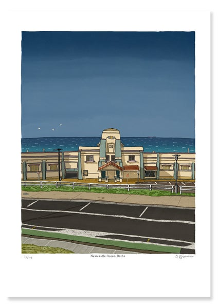 Image of Newcastle Baths, 9:45am, Winter
