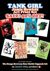 Image of SALE! Jamie Hewlett Art Print Set (with Booga Beer kit!)