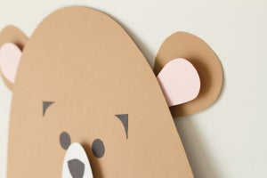 Image of Plantilla oso de otoño