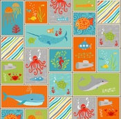 Image of Big Splash Sea-Life Patchwork 6823-16