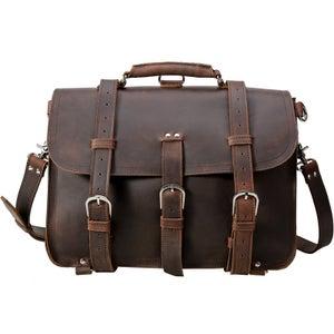 Image of Men's Extra Large Handmade Vintage Leather Travel Bag / Satchel - Backpack / Messenger (N53L)