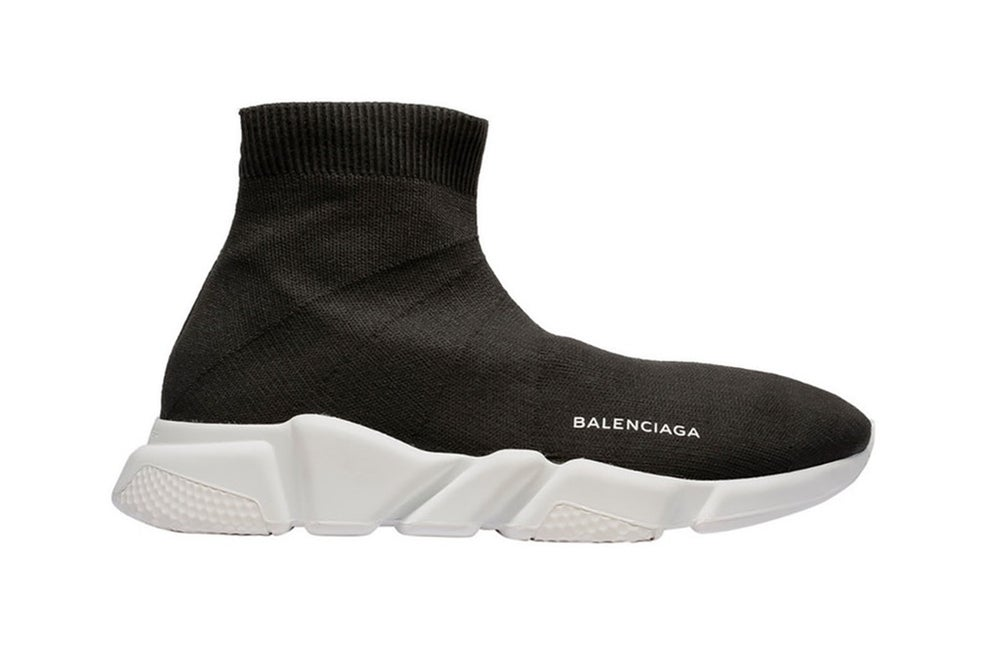 Image of BALENCIAGA SPEED TRAINER 'BLACK-WHITE'