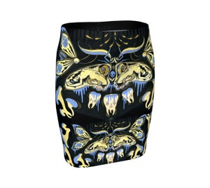 "Image of ""Ghostmoth Dreams"" Fitted Skirt"
