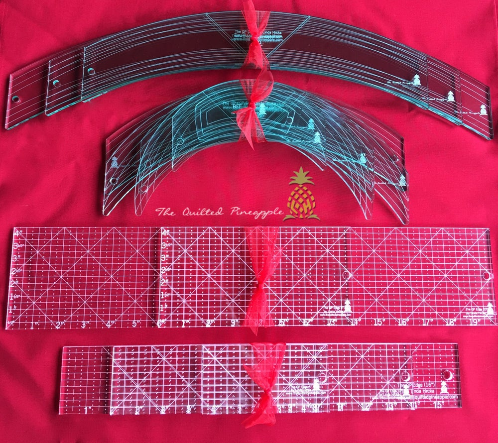 Image of Ultimate Set I Special-3 Big Curves, Original 6 QP Curves, 2 Fat & 3 Edge Straight Rulers
