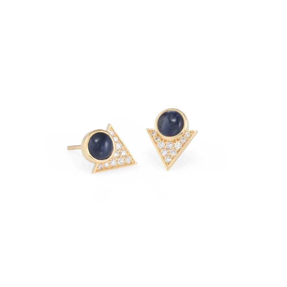 Image of Sapphire Pollux Earrings