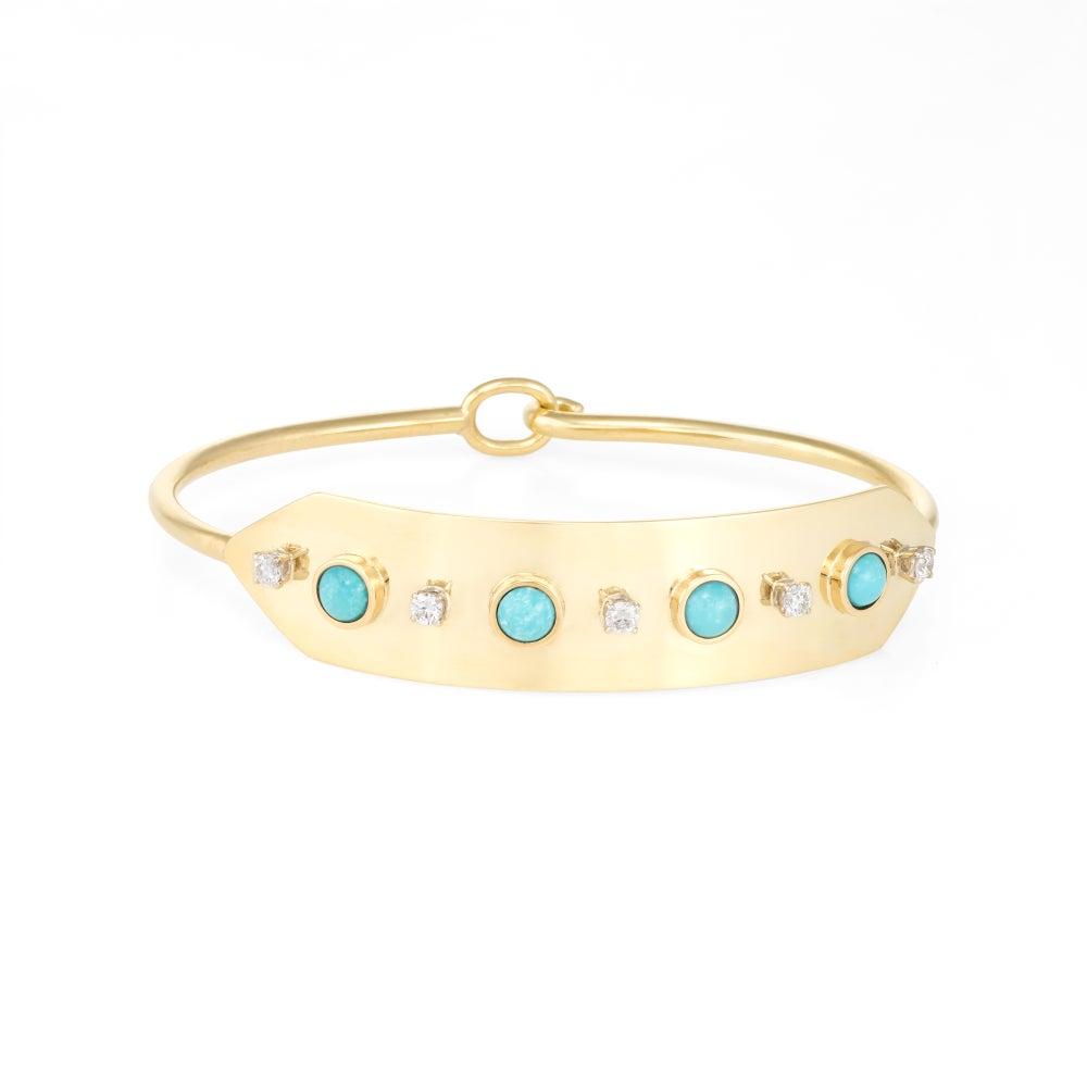 Image of Turquoise Diamond Lucia Bracelet