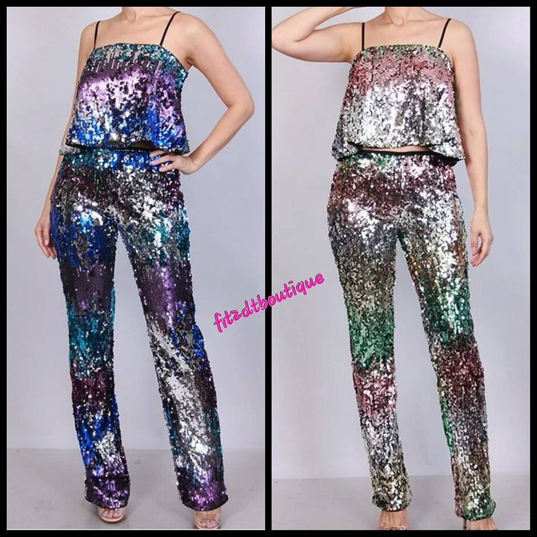 Image of Sequined 2 pc set