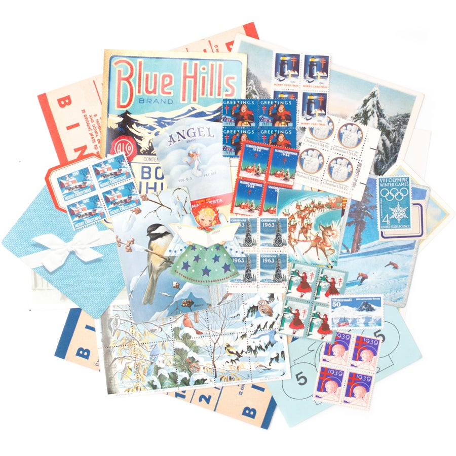 Image of Christmas Paper Pack - Blue & Red
