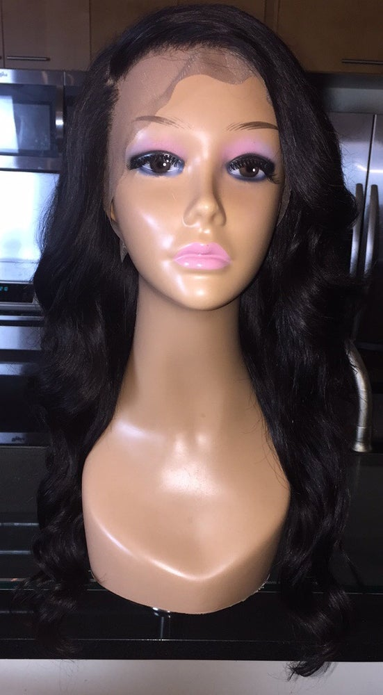 """Image of Indian Natural Wave 18"""" Custom Lace Frontal Wig!"""