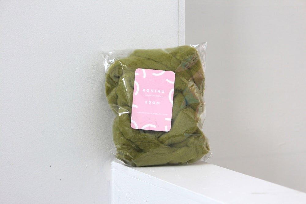 Image of Roving - Moss 50g