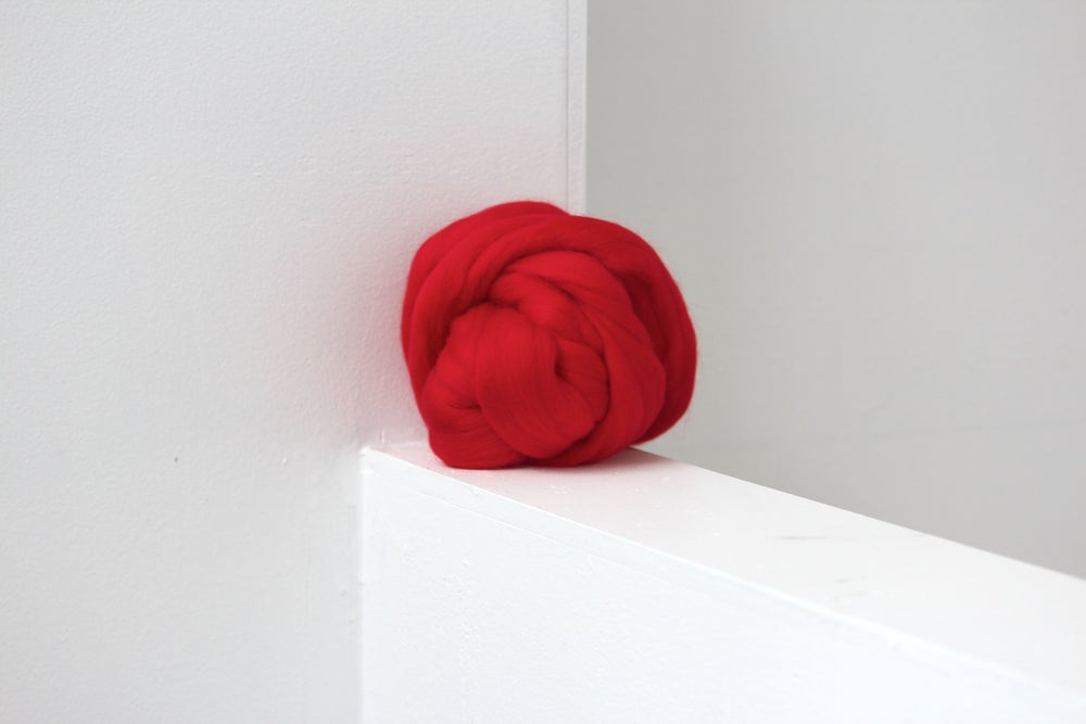Image of Roving - Red Rose 50g