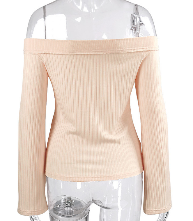 Image of Fashion with a shoulder to shoulder and a long sleeved top