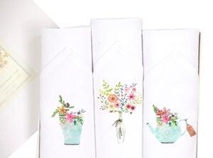 Image of Ladies blossom hankies set