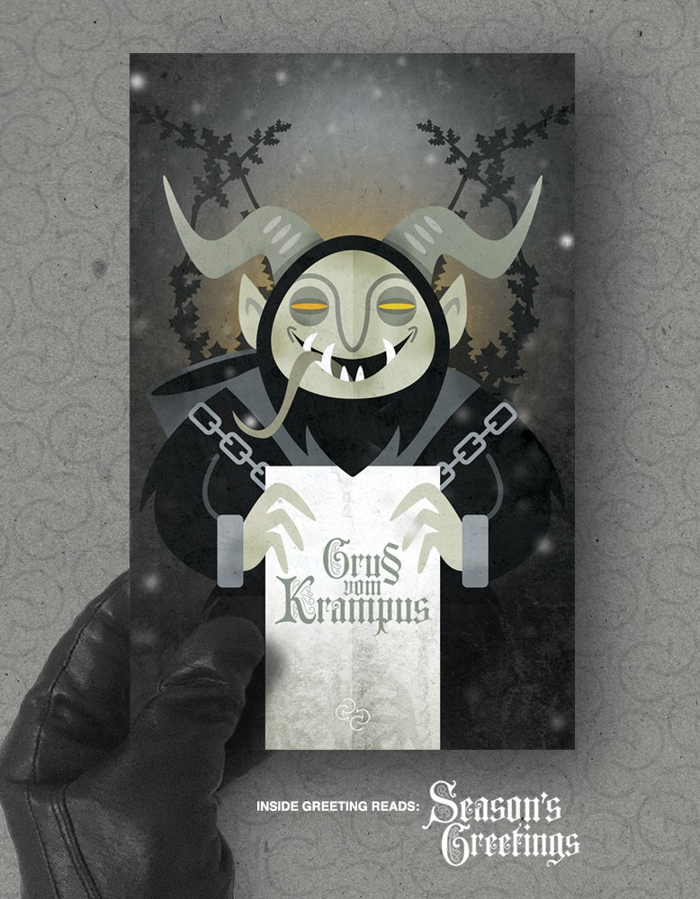 Image of Xmas card pack: 'Gruss vom Krampus'
