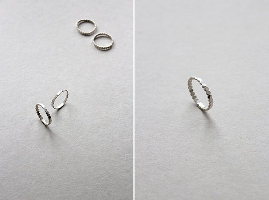 Image of HAMMERED DOTTED RINGS