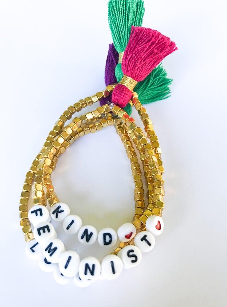 Image of Gold Tassel Bracelets