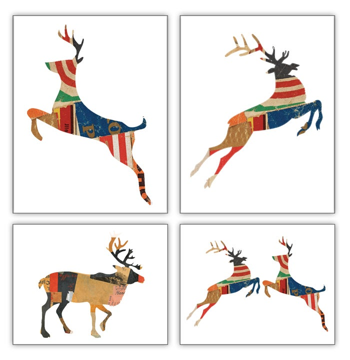 Image of Reindeer Collage Collection