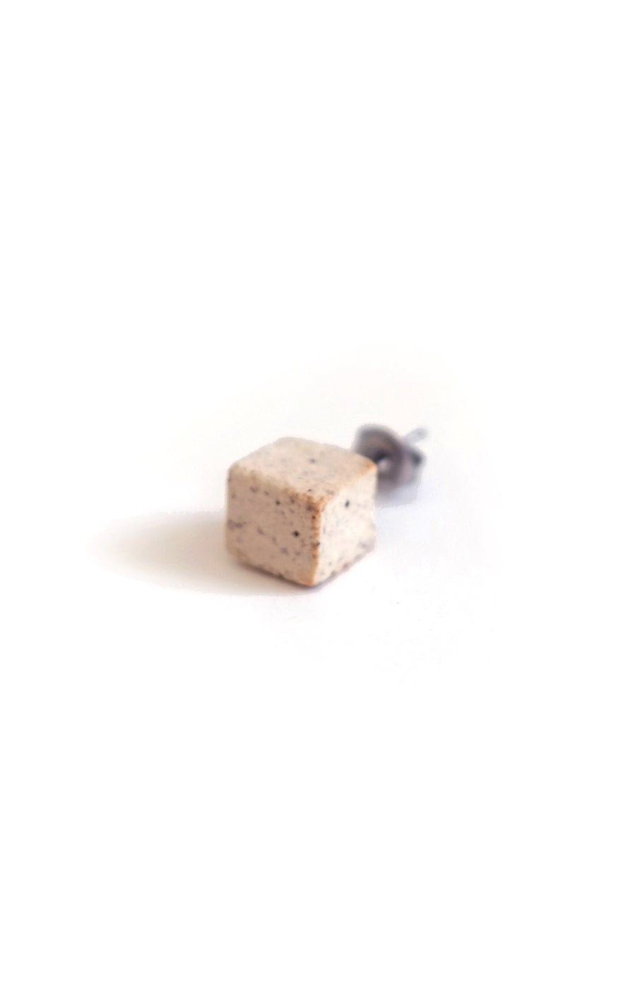 Image of sugar cube earring