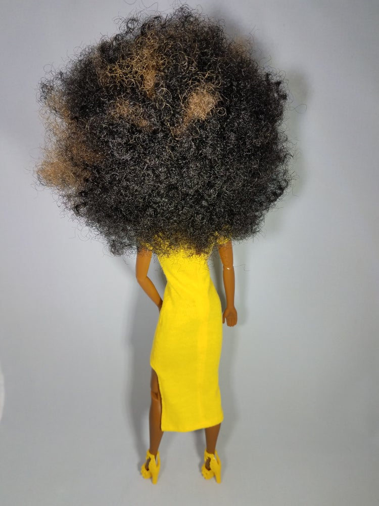 Image of Curl Power (Yellow Hi-Lo Dress) Collector Doll