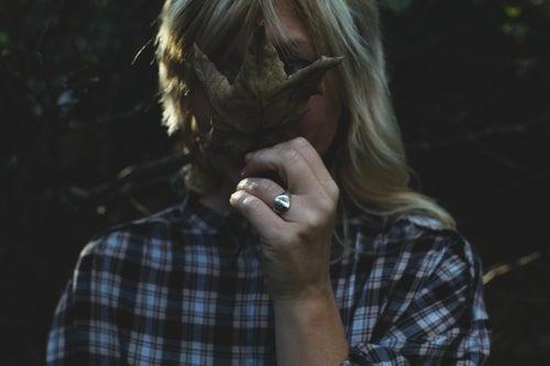 Image of *NEW* round 'Wilderness' signet ring
