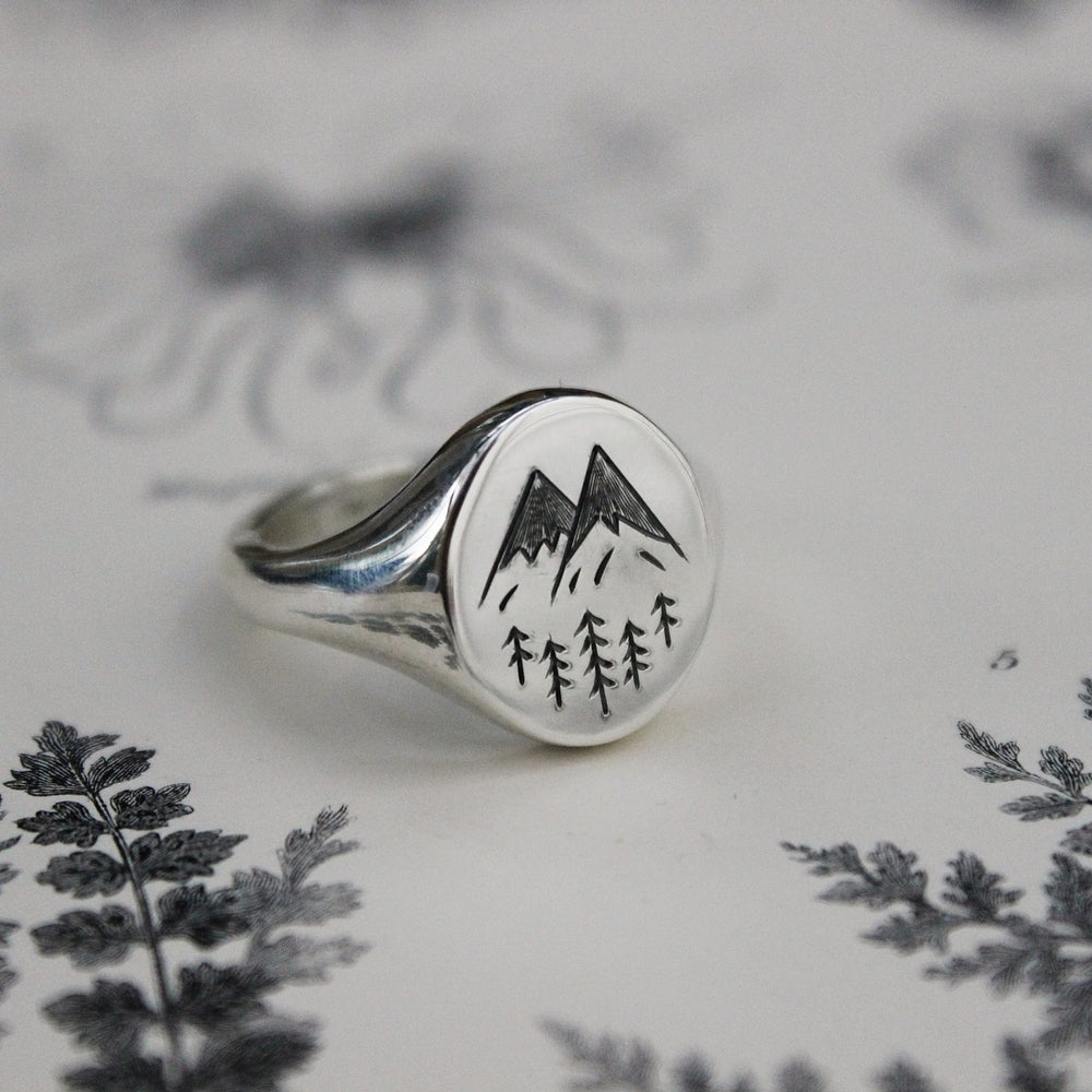 Image of *NEW* 'Alps' Wilderness large signet ring