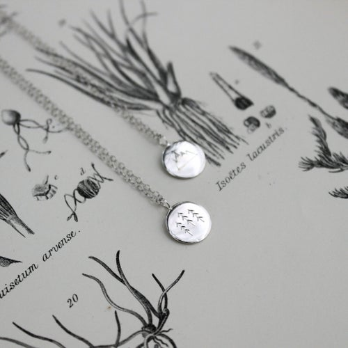 Image of *NEW* Wilderness disc necklace in silver